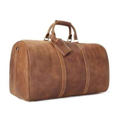 628863ea673a Natural Tan Vintage Leather Duffle Bags
