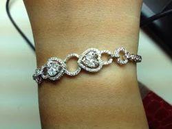 Diamond Heart Design Bracelet