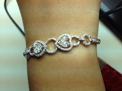 all jewellery view gold heart v p anklet cut diamondcut in diamond