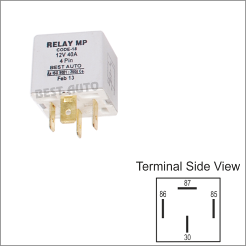 Multi Purpose Relays - Relay 4 Pin without Clamp 12V / 24V