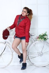 Red Ladies Short jacket