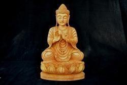 Wooden Sitting Japa Buddha