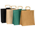 Cane Handle Designer Shopping Jute Bag