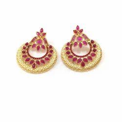Designer Pink Stone Earring