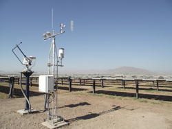 Weather Sensors Solar Power Plant