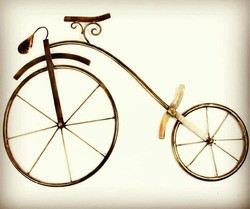 Golden Round Big Size Iron Cycle For Wall Decoration, for Home