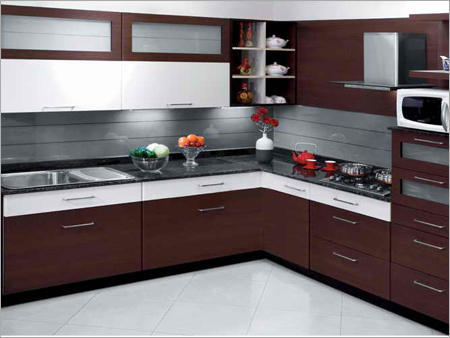 Wooden L Shape Modern Modular Kitchen Warranty 5 10 Years Kitchen Cabinets Rs 50000 Piece Id 10653203512