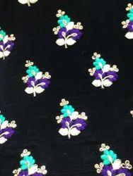 Velvet Floral Embroidery Fabrics