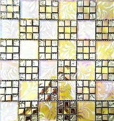 VTC Multicolor Glass Mosaic Wall Tiles, Thickness: 5-10 mm, Size: 12*12