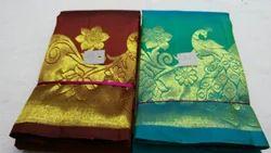 Wedding & Bridal Pure Kanchipuram Designer Saree, With Blouse Piece, 6.30 Handloom Weaving