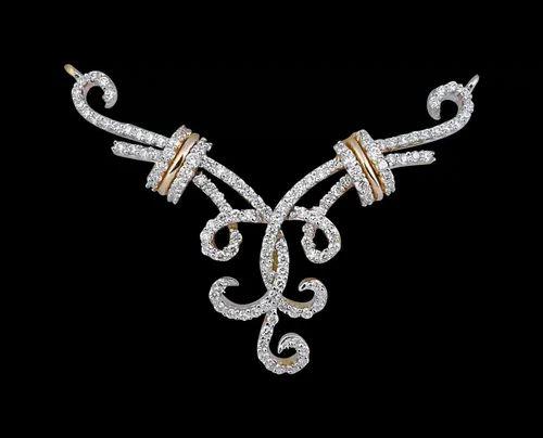 Designer diamond mangalsutra at rs 70000 piece heere ka designer diamond mangalsutra aloadofball Gallery