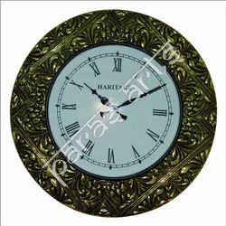 Isha Art Brass Fitted Antique Wall Clock