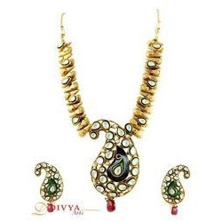 Royal Gold Plated Necklace Set In Mango Design at Rs 2841 piece