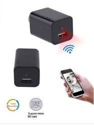 Hidden Spy Camera in Mobile Charger