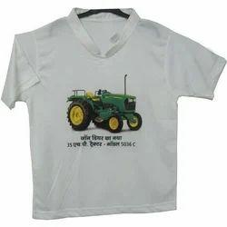 Mens White Promotional T-Shirt