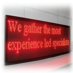 Red Text Scrolling LED Display