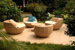 Brown Outdoor Wooden Chairs, Finish: Polished