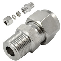 SS 316L Connector With Ferrule Fitting