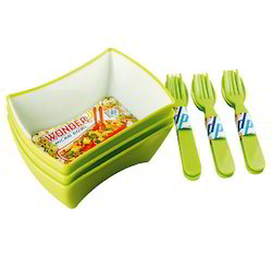 Wonder Bowls 3pc Set with Spoon and Fork