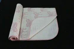Handmade Block Printed Baby Quilt