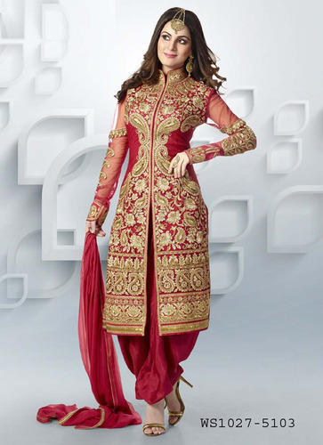 142bfb7125 Red Colour Heavy Embroidered Salwar Suit, Salwar Suits - Unique ...
