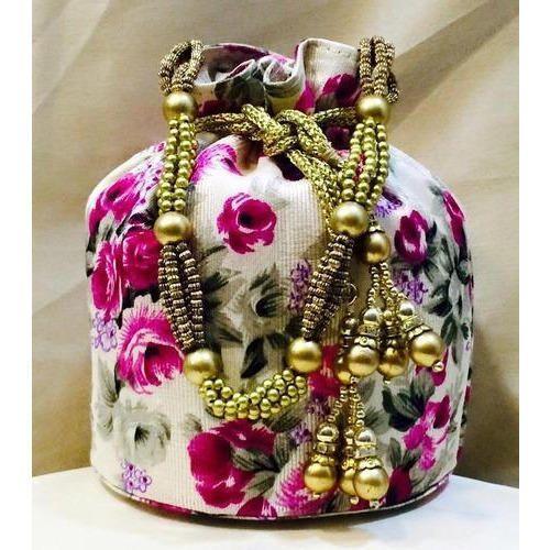 Floral Print Potli Bag