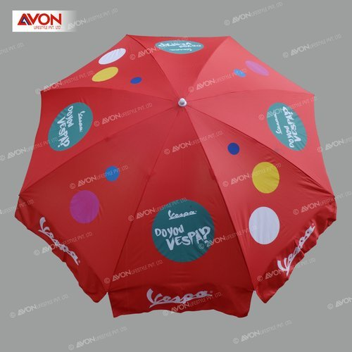 Red Nylon Colorful Patio Umbrellas, Size: 36 Inch