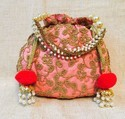Designer Pom Pom Potli Bags