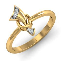 Golden 14K Diamonds Ring