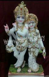 Jugal Marble Radha Krishna Statue