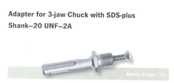 Adapter For 3- Jaw Chuck With SDS- Plus Shank