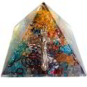 Orgone Pyramid with 2mix Crystal