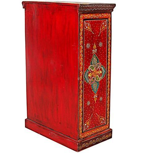 magnificent wooden colorful cabinet with drawers almirah rh indiamart com