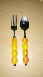 Beed Baby Spoon And Fork