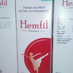 Hemfil Ferrous Ascorbate Syrup, 70 Ml, Packaging Type: Plastic Bottle