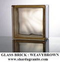 Brown Weave Glass Bricks