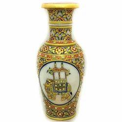 Elephant  Marble Flower Vase MB141