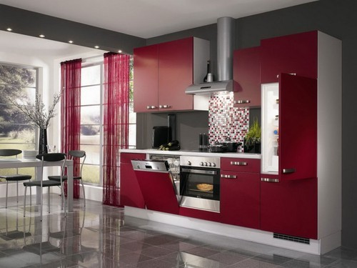 Straight SS Modular Kitchen - Warli Painting Designer