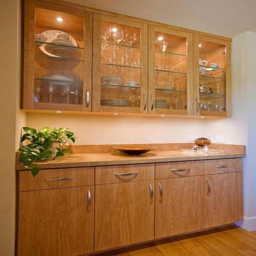 Wooden Glass Cupboard at Rs 600 /square feet | Wooden Cupboard ...