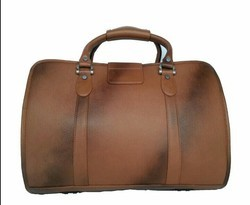 Leather Duffel Trolley Bags