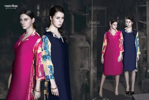 Crepe Straight Ladies kurti