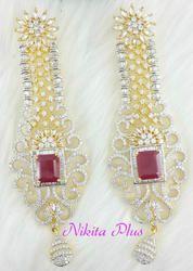 Nikita Plus American Diamond Earring Jewellery