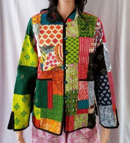Hand Crafted Vintage Cotton Kantha Jackets For Women Vintage Reversible Kantha