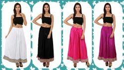 Womens Rayon Skirts
