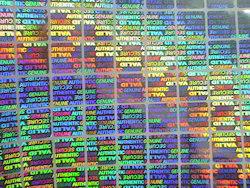 Digital Color Hologram Label
