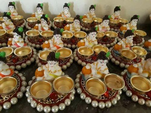 Return Gifts Ganesha Haldi Kumkum Platter Manufacturer From Jalgaon