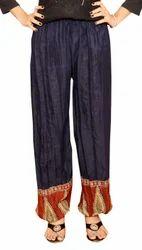 Dark Blue Cotton Harem Pants