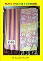 Multicolor Various Patterns Carry Print Amre Pv Stoles