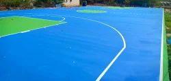 Basketball Court synthetic acrylic flooring service 5 Laya