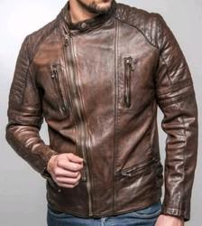 Brown Pure Leather Mens Leather Jacket